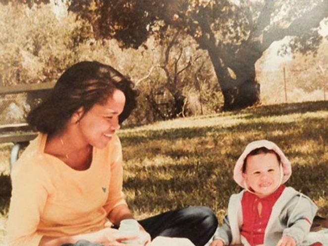 Meghan Markle with her mother Doria Ragland