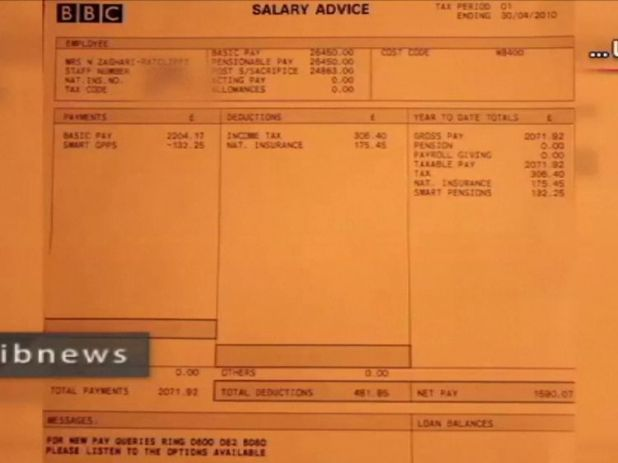 A BBC payslip from 2010 Iranian state TV claims is evidence Nazanin Zaghari-Ratcliffe was involved in working to undermine Iran