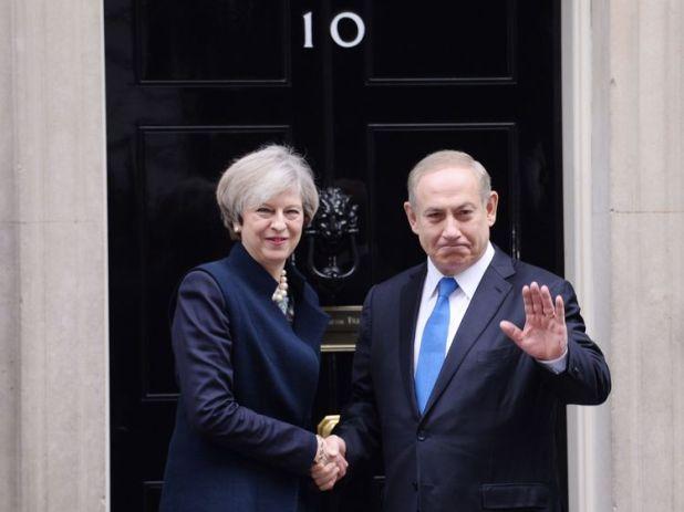 Theresa May and Benjamin Netanyahu met earlier this year