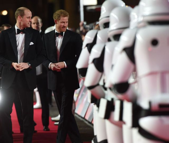 Star Wars Prince Harry And Duke Of Cambridge Join Stormtroopers On Red Carpet