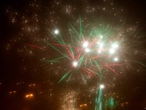 Fireworks explode during New Year celebrations in Minsk, Belarus January 1, 2018