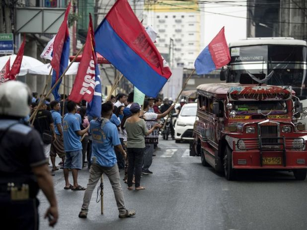 A file picture of a jeepney bus like that which crashed