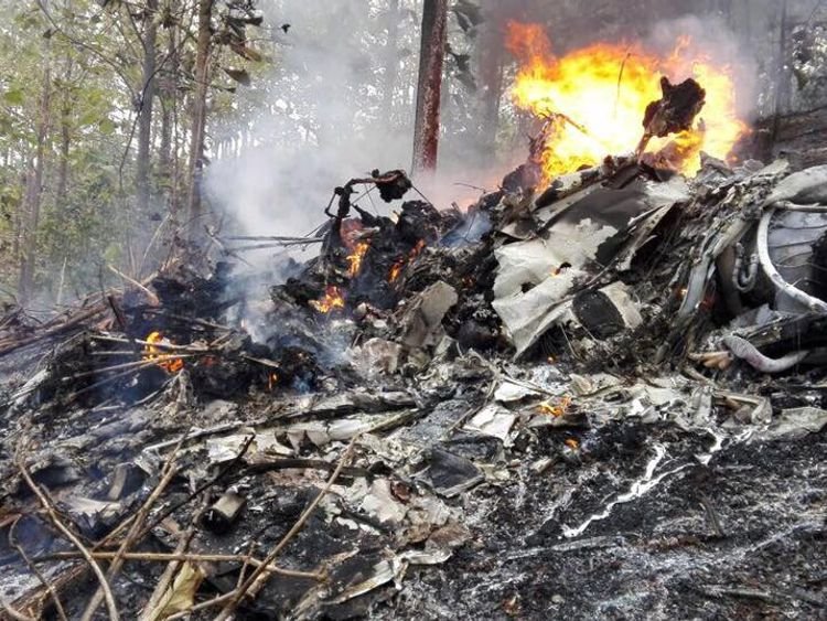 The US Embassy says it is aware of the crash. Pic: Costa Rica Public Safety Ministry