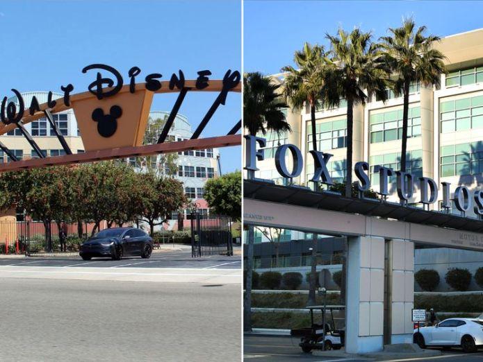 Disney and Fox. Pic: Coolcaesar Comcast $65bn bid sets up battle with Disney for Fox Comcast $65bn bid sets up battle with Disney for Fox skynews disney fox studios 4182511