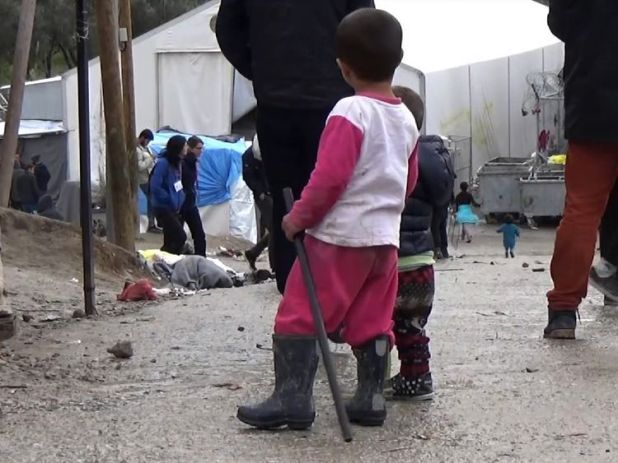 Many of those living in the camp say they have fled from Islamic State