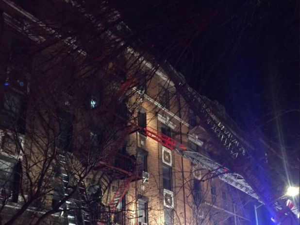 The death toll could still rise after what has been described as a 'historic' blaze. Pic: New York City Fire Department
