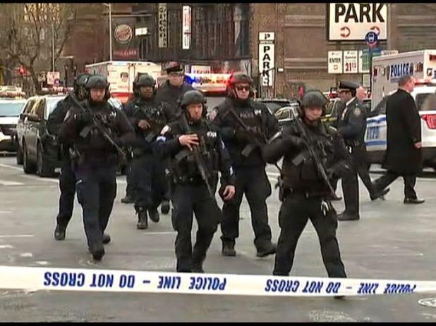 Police at the scene
