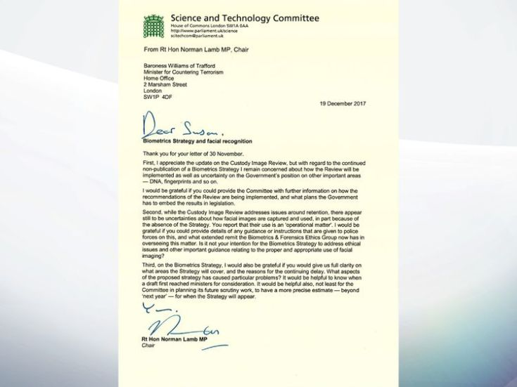 Norman Lamb MP's letter to the Government