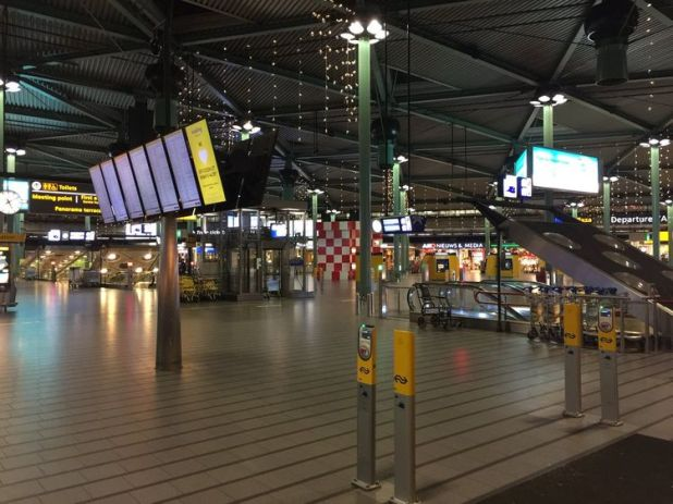 Police have said no trains were running in or out of the airport pic: @TreehouseTravIR