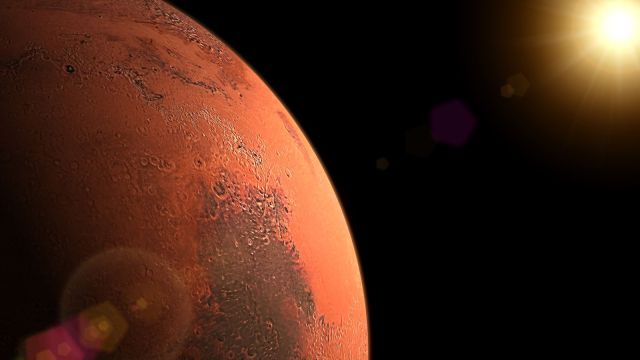 Life on Mars? 12-mile liquid water lake found on Red Planet   Science & Tech News   Sky News