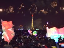 Fireworks are seen during New Year celebrations in this photo released by North Korea's Korean Central News Agency (KCNA) in Pyongyang on January 1, 2018