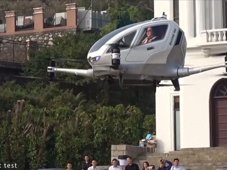 Chinese UAV-maker Ehang became the first to test-fly a passenger drone taxi with its single-seater Ehang 184 in Dubai last year