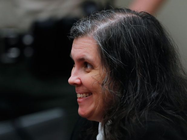 Louise Turpin smiles during the hearing