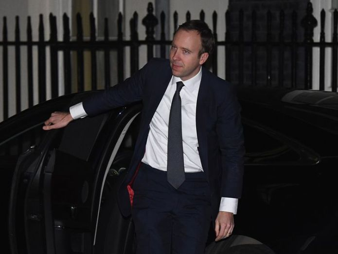 LONDON, ENGLAND - JANUARY 08:  Matt Hancock arrives at 10 Downing Street as Prime Minister Theresa May reshuffles her cabinet on January 8, 2018 in London, England. Today's Cabinet reshuffle is Theresa May's third since becoming Prime Minister in July 2016 and was triggered after she sacked first secretary of state and close friend Damian Green before Christmas.  (Photo by Leon Neal/Getty Images) New undertakings by 21st Century Fox in Sky takeover bid New undertakings by 21st Century Fox in Sky takeover bid skynews matt hancock tory mp 4201161