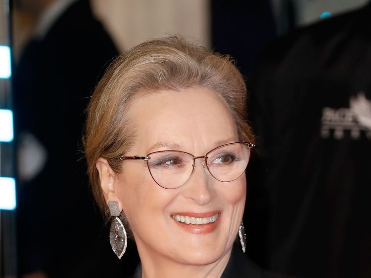LONDON, ENGLAND - JANUARY 10: Meryl Streep attends 'The Post' European Premeire at Odeon Leicester Square on January 10, 2018 in London, England. (Photo by Tristan Fewings/Tristan Fewings/Getty Images)