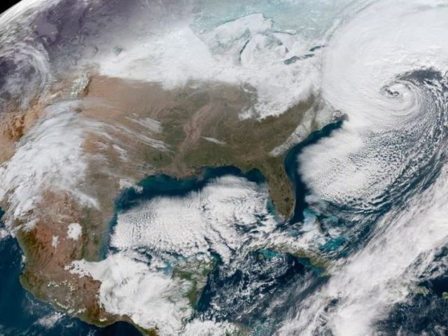 The cyclone bomb is travelling from Florida to Maine, here seen from space. Pic. NASA