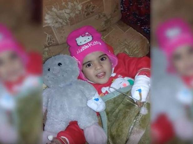 Rama, a youngster from Ghouta who has Lymphoma who needs urgent chemotherapy