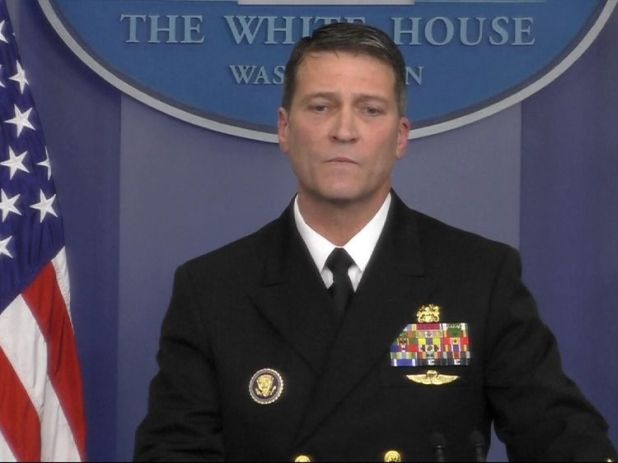 Dr Ronny Jackson revealed the full results of Mr Trump's first medical check-up as President