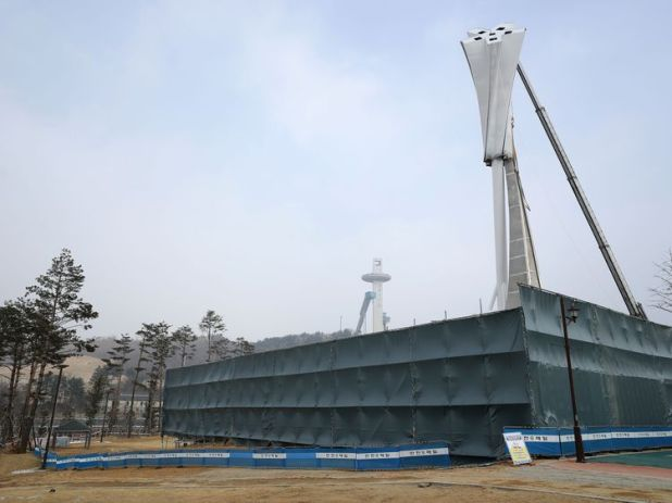 Preparations continue in South Korea ahead of next month's games