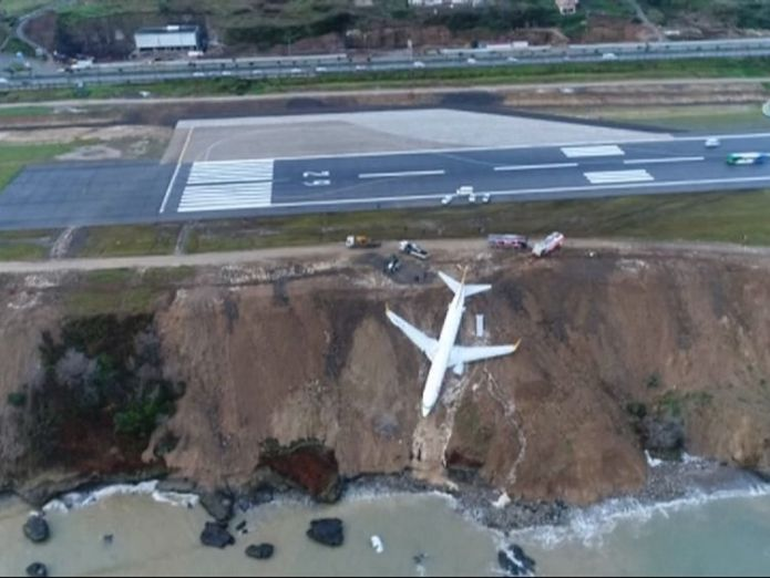 The aircraft crashed off the runway
