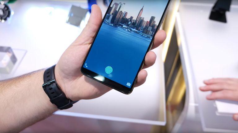 phone embeds fingerprint sensor