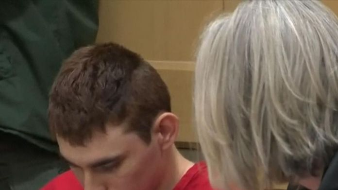 Nikolas Cruz making a second appearance in court after the school massacre. Florida mass shooting suspect Nikolas Cruz makes second court appearance Florida mass shooting suspect Nikolas Cruz makes second court appearance skynews cruz florida shooting 4235466