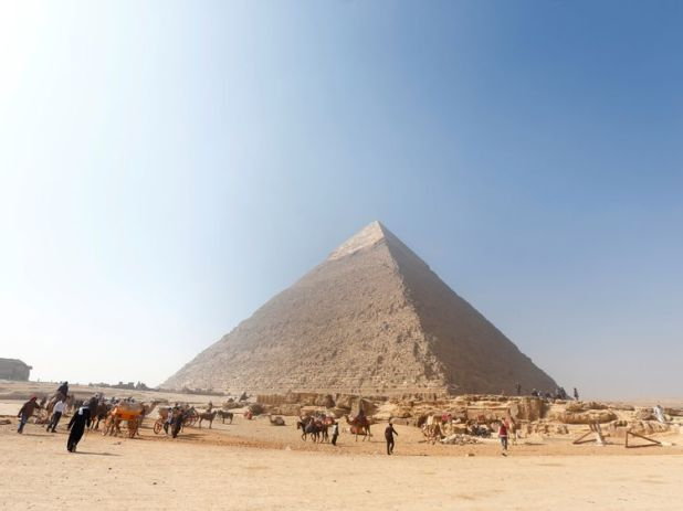 The new tomb was discovered near the Giza pyramids, outside Cairo