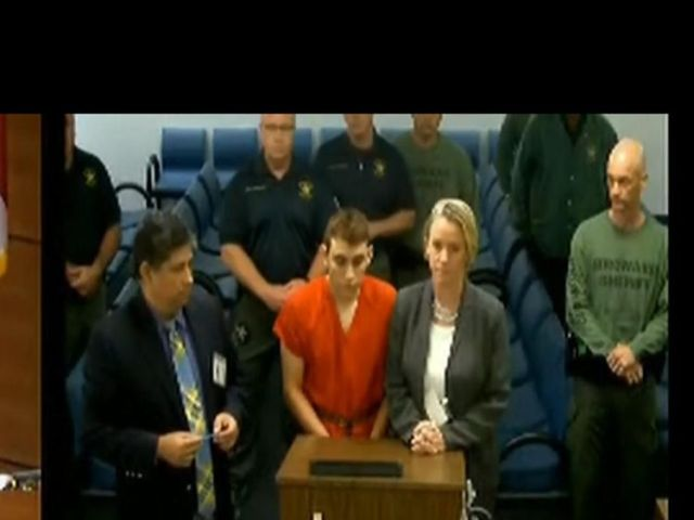 Cruz making his first appearance in court after the school shooting.
