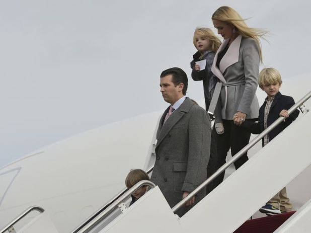 Donald Trump Jr. with his wife Vanessa and children