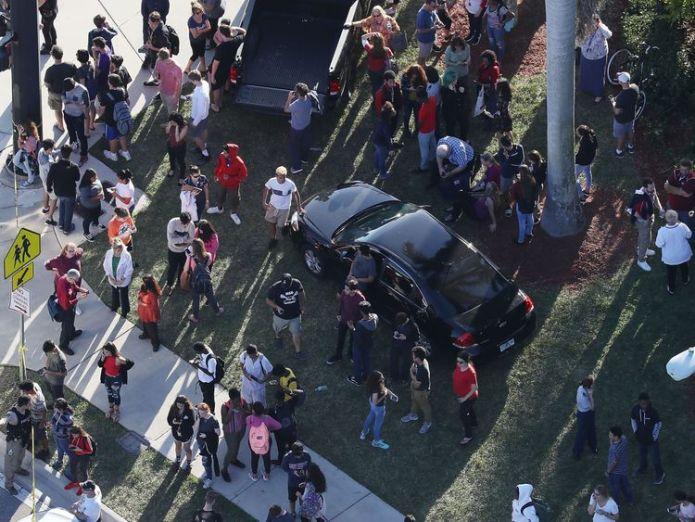 The chaotic scene after the shooting Florida school gunman Nikolas Cruz 'remorseful' and 'sad' Florida school gunman Nikolas Cruz 'remorseful' and 'sad' skynews florida shooting school 4231473