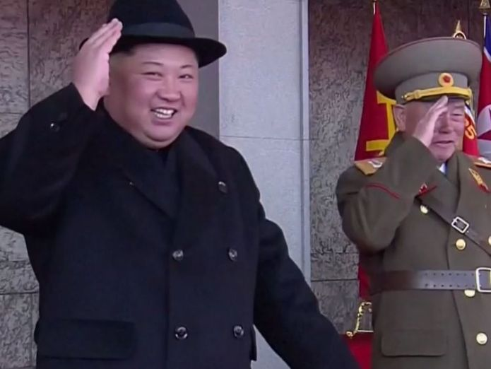 Kim Jong Un watches a military parade in Pyongyang North Korean leaders 'used fake Brazilian passports to apply for visas' North Korean leaders 'used fake Brazilian passports to apply for visas' skynews kim jong un north korea 4225786
