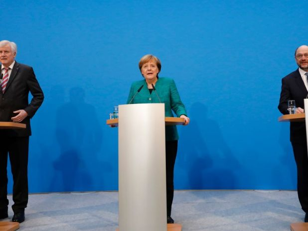 Coalition talks of CDU, CSU and SPD in Berlin have ended in an agreement