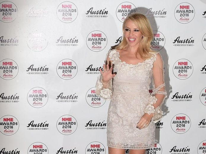 Australian singer Kylie Minogue posing on the red carpet  Kylie Minogue announces new UK and Ireland tour Kylie Minogue announces new UK and Ireland tour skynews nme kylie minogue brixton 4231459