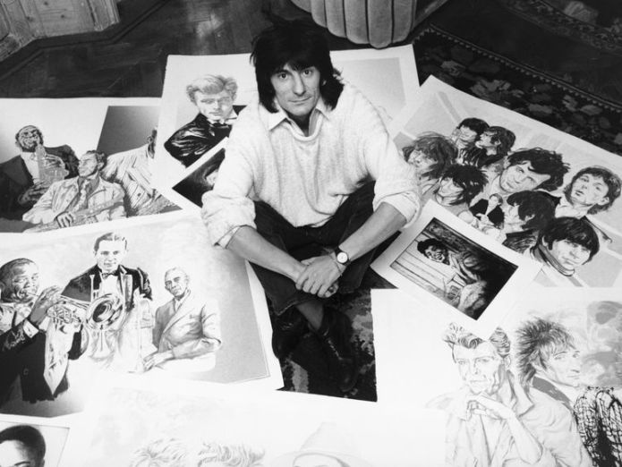 Guitarist Ronnie Wood of the Rolling Stones with some of his drawings of fellow musicians, 1987. (Photo by Daily Express//Hulton Archive/Getty Images) Editorial subscription SL 5182 x 3477 px | 43.30 x 29.05 cm @ 304 dpi | 18.0 MP  Size Guide Add notes DOWNLOAD AGAIN Details Restrictions:Contact your local office for all commercial or promotional uses. Credit:Express / Stringer Editorial #:72591859 Collection:Hulton Archive Date created:01 January, 1987 Licence type:Rights-managed Release  ronnie wood on cancer, kids and the 'unstoppable energy' of the rolling stones Ronnie Wood on cancer, kids and the 'unstoppable energy' of The Rolling Stones skynews ronnie wood rolling stones 4242792