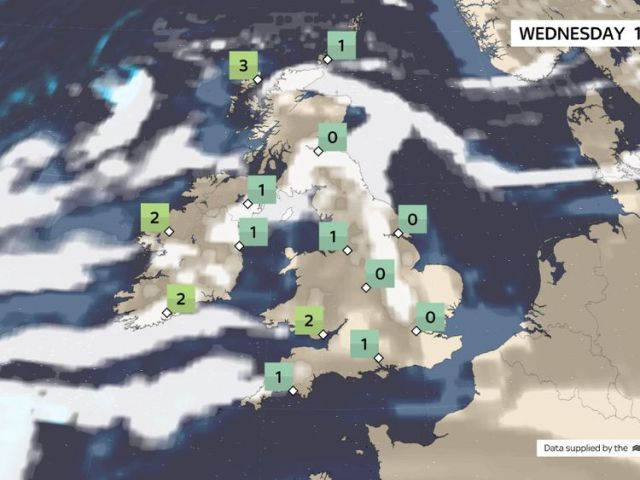 Wednesday's weather forecast