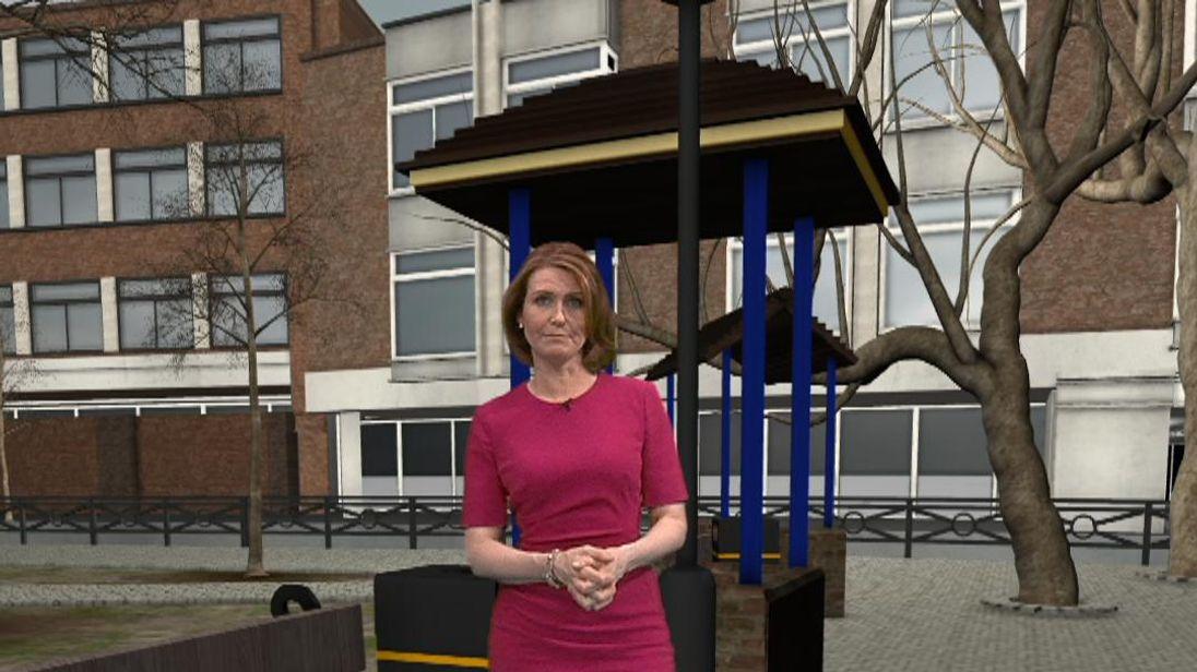 VR reconstruction of Skripal final movements
