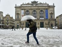 The Place de la Comedy in Montpellier in the south of France Ireland on red alert as 'extraordinary' storm approaches Ireland on red alert as 'extraordinary' storm approaches skynews europe snow france 4243853