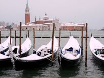 Snow covered gondolas near St. Mark's square in Venice lagoon Ireland on red alert as 'extraordinary' storm approaches Ireland on red alert as 'extraordinary' storm approaches skynews europe snow venice 4243778