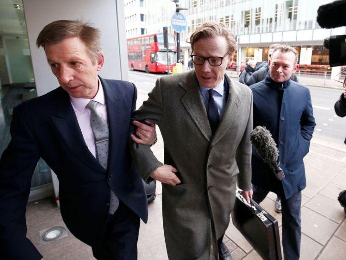 Alexander Nix, CEO of Cambridge Analytica arrives at the offices of Cambridge Analytica in central London