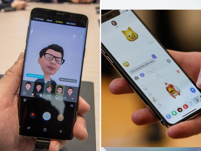Both the Samsung S9 and the iPhone X let users create animated emojis