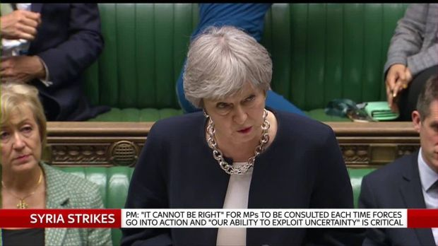 Theresa May in the House of Commons