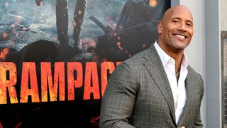 The Rock at the Rampage premiere