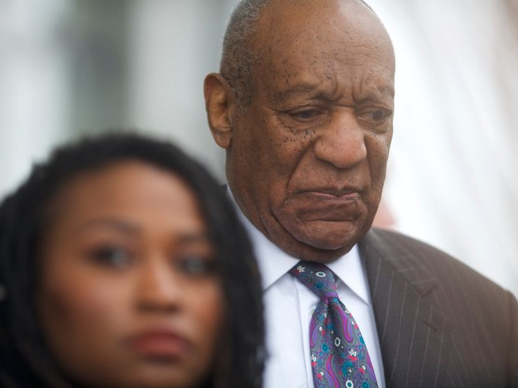 Bill Cosby departs the Montgomery County Courthouse after the first day of his sexual assault retrial
