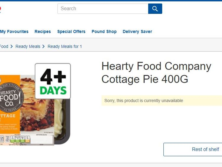 Batches pf Hearty Food Company Cottage Pie recalled by Tesco