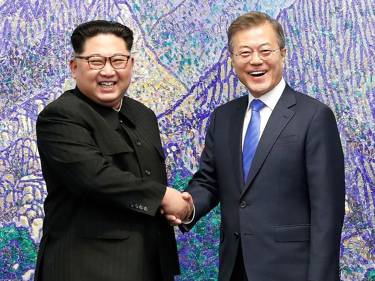 The men are meeting amid a recent warming in relations between the countries