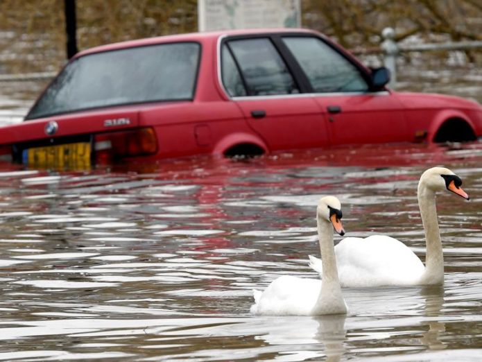 Flooding has already caused problems in Richmond, west London