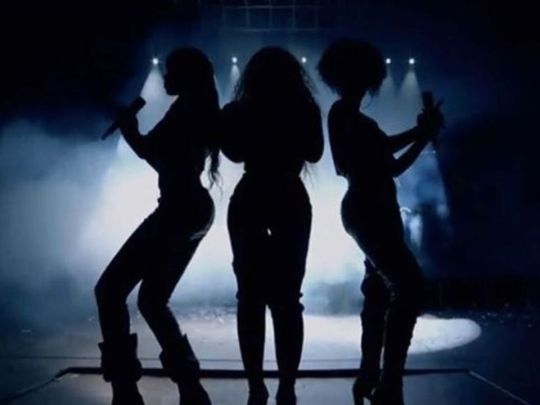 The iconic silhouette of Destiny's Child got the Coachelle crowd screaming. Pic: Kelly Rowland/Instagram