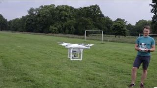 Drones under 250g must stay more than 150ft from buildings and people