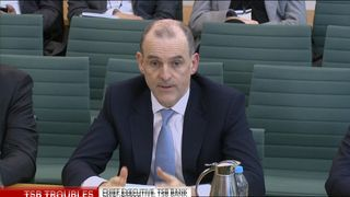Paul Pester giving evidence to MPs MP calls for TSB boss to intervene as online banking down for a month MP calls for TSB boss to intervene as online banking down for a month skynews paul pester tsb committee 4299039