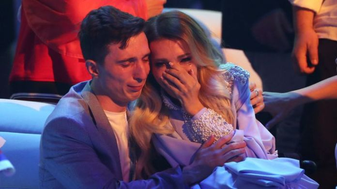 Yulia Samoylova cried after she failed to make the Eurovision final in 2018, having been banned from the UK in 2017 Eurovision's history of political voting Eurovision's history of political voting skynews yulia samoylova russia 4306698